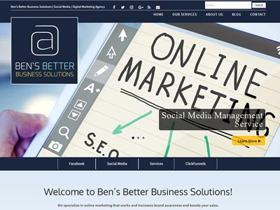 Ben's Better Business Solutions Company Website