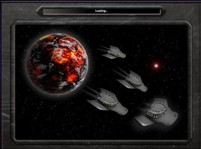 Loading page for Conquest Alpha game by Alpha Centauri Games