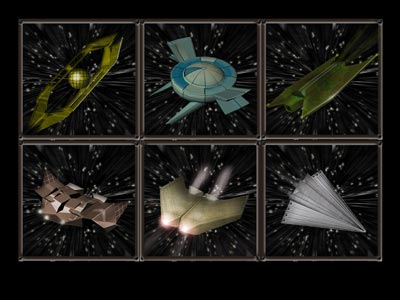 Ships' frames for Conquest Alpha game by Alpha Centauri Games