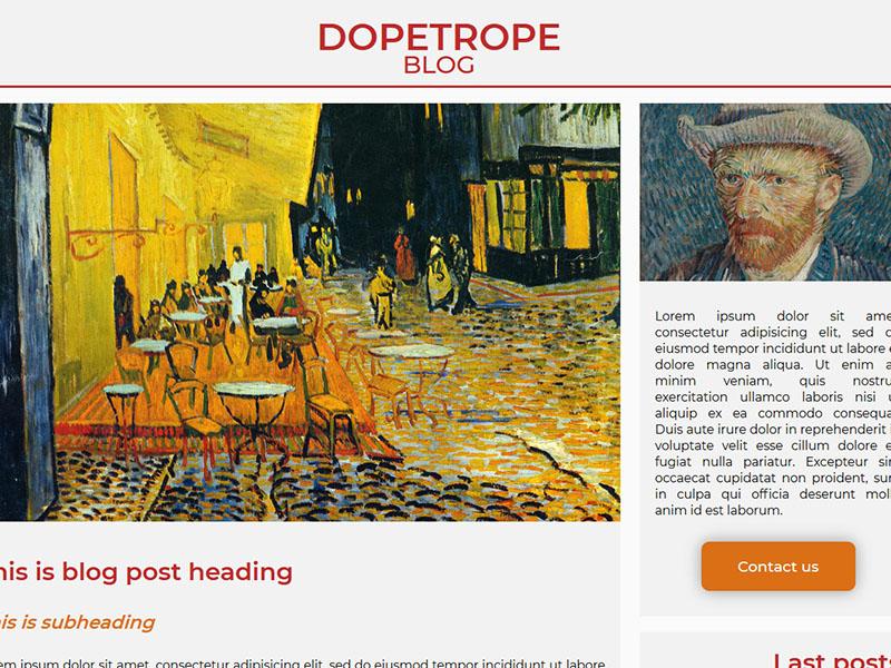 Blog Post Template Screenshot